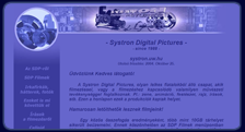 A Systron Digital Pictures weboldala 2003 - 2004